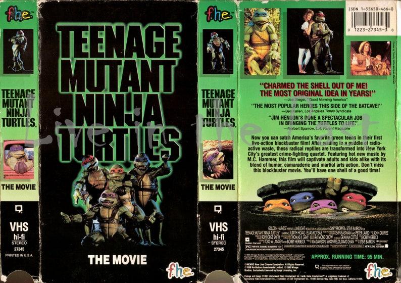 Teenage Mutant Ninja Turtles VHS case print | Etsy