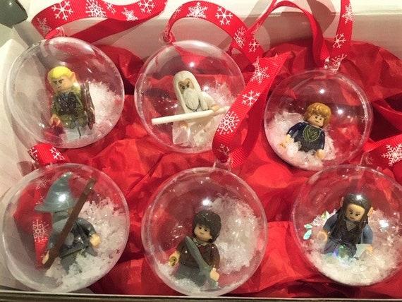 Mr Mrs Santa Claus Christmas baubles gift set present LEGO newlyweds wedding