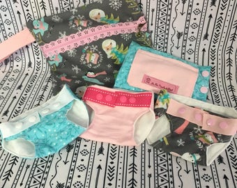 Set of diapers for doll