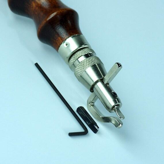 Seiwa Adjustable Leathercraft Pro Stitching Groover Set Japan