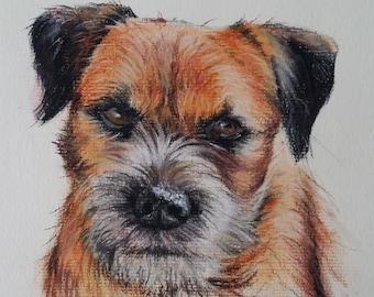 Framed Custom Portrait, Pet portrait, Animal Portrait, Dog portrait, cat portrait
