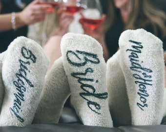Bridesmaid Gifts - Wedding Socks - Bridal Party Socks - Bridesmaid Proposal - Custom Wedding Sock - Maid of Honor Socks - Bachelorette Party