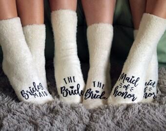 Bridal Party Socks - Bridesmaid Gifts - Wedding Socks - Bridesmaid Proposal - Custom Wedding Sock - Maid of Honor Socks - Bachelorette Party