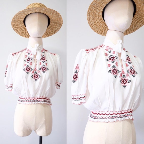 Vintage 30s Hungarian Blouse