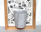 Wall Mounted Mug Vase - Black and White