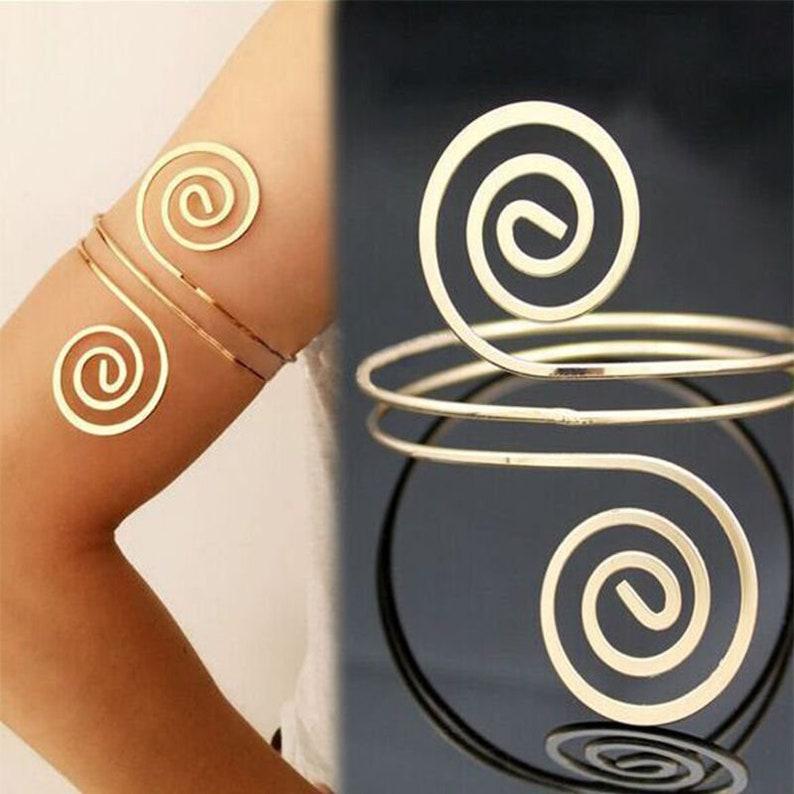 Athena Goddess Arm Cuff Wanderlust Jewelry Arm Bracelet Bracelet Body Jewelry  |Gypsy Bracelet Bohemian Jewelry Arm Cuff