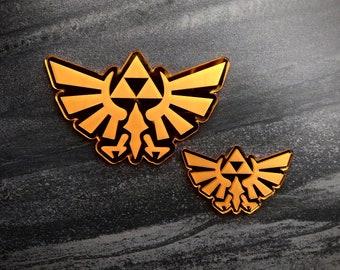 259 Zelda Triforce Label  Aufkleber  Sticker  Badge  Logo 26 x 35mm