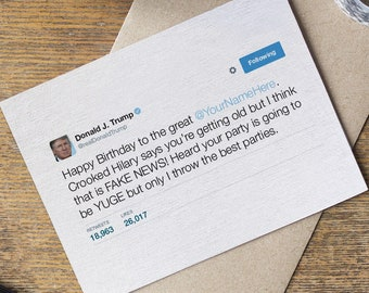 Donald Trump Birthday Card Etsy