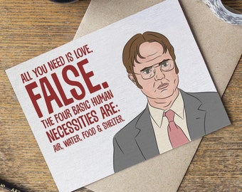 58ee14fcf3e016 The Office Dwight Schrute Valentine s Day Love Card