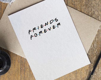 Friends forever card etsy friends tv show card friends forever rachel monica best friend love birthday cards funny greeting card m4hsunfo