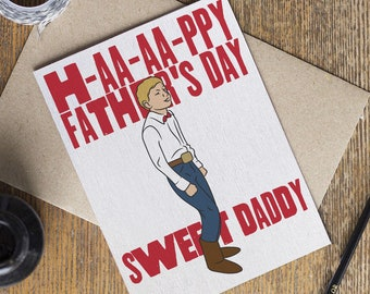 Yodel Boy Father's Day Card - Sweet Daddy Yodelling Kid Walmart Viral Video Coachella - Happy Fathers Day Dad - Internet Meme