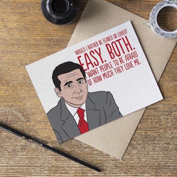 The Office Michael Scott Birthday Anniversary Valentine/'s Love Card