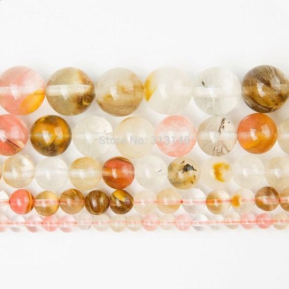 Natural Gemstone Beads Cherry Quartz Crystal Round Stone Beads 4//6//8//10mm