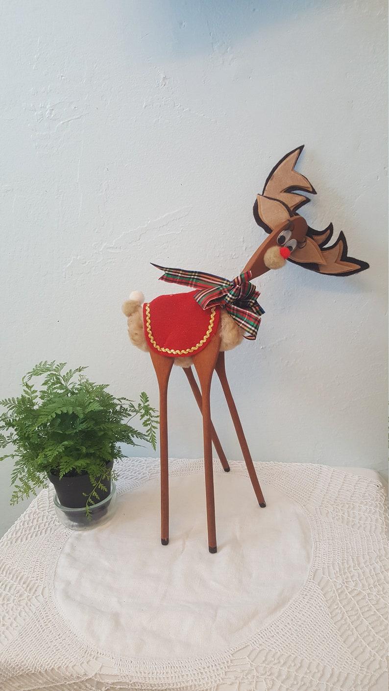 Handmade Christmas Wooden Spoon Deer Wooden Kitchen Spoon Reindeer Christmas Decoration Handy Craft Kitchen Spoon Christmas Reindeer