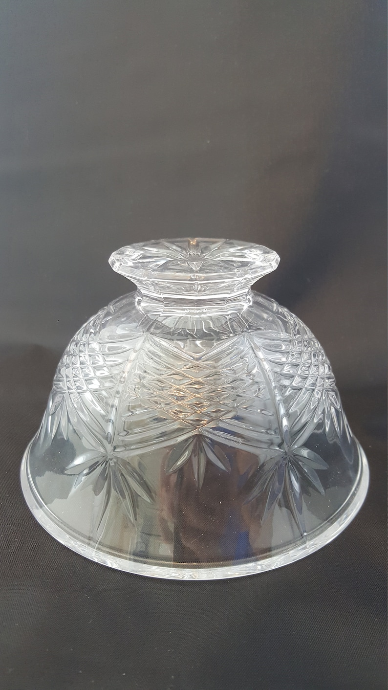 Candy Bowl Soap Dish Nut Bowl TOWLE Crystal 5 Footed Bowl Made in Austria Cut Crystal Clear Jewelry Serving Dish Clear Crystal Bowl