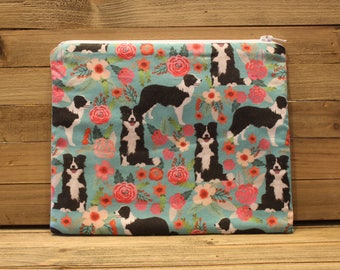 Border Collie Zipper Pouch