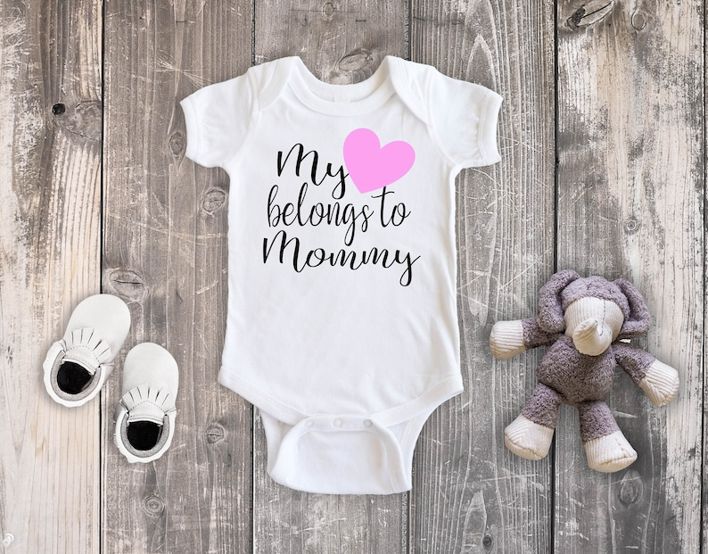 0afd28ab My Heart Belongs to Mommy Bodysuit Baby Girl Outfit Toddler | Etsy