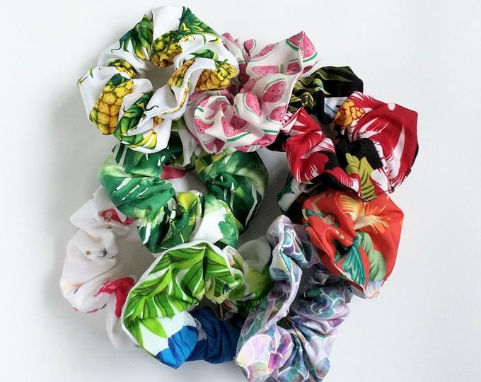 Tropical Scrunchies