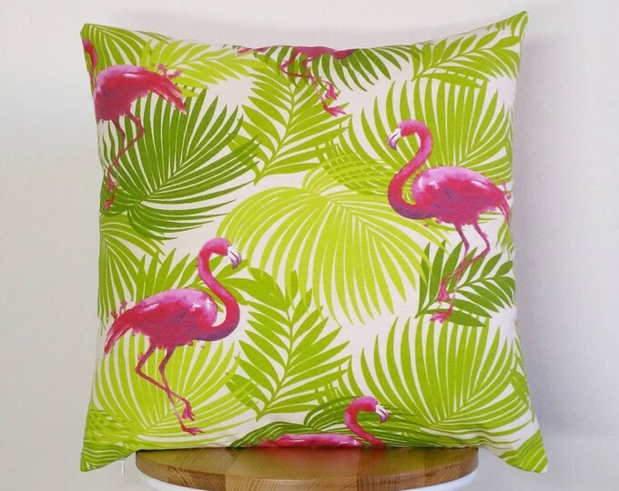 Pink Flamingo cushion cover