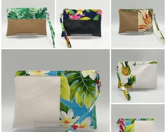 Tropical clutch, Tropical wristlet.