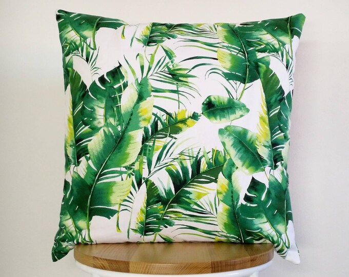 Palm leaves, Banana leaf cushion cover