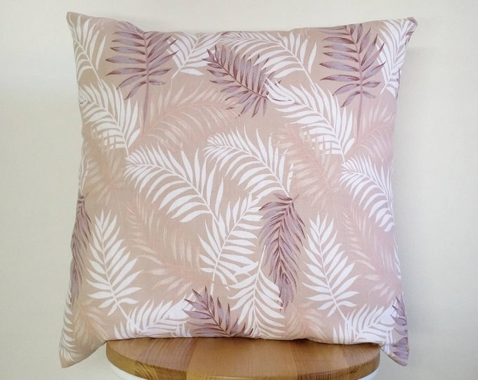 Tropical cushion cover, palm leaf cushion, palm leaf pillow cover, Coastal cushion, Spring decor, Tropical cushion, Coastal decor