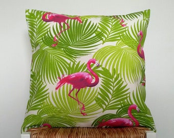 Flamingo cushion cover.