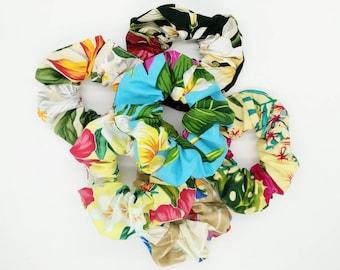 Scrunchies, Tropical Scrunchie, Hawaiian scrunchie, Hair ties, Hair accessory, Handmade.
