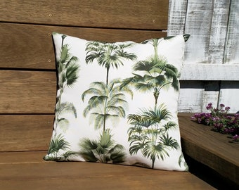 Palm tree cushion cover, Coastal cushion, Tropical cushion.
