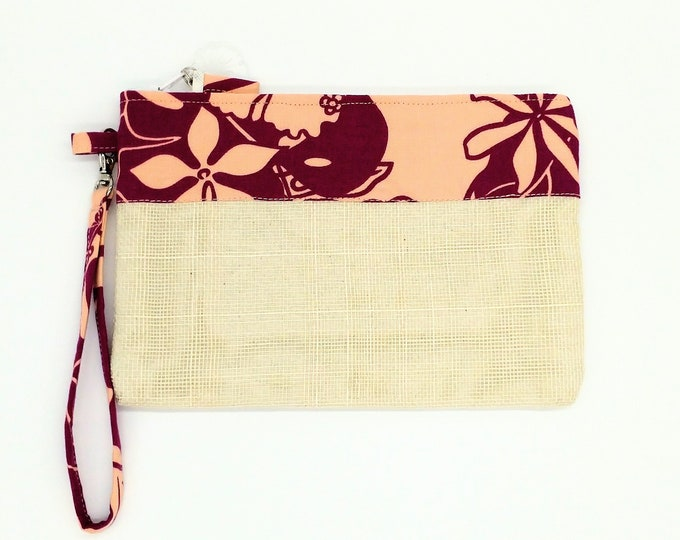 Tropical clutch, Tropical purse, Tropical wristlet, Tropical bag, Hawaiian print clutch, Tropical travel bag, Clutch, Hawaiian bag, Tahitian