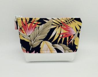 Tropical makeup bag, Tropical cosmetic bag, Tropical toiletry bag, Hawaiian makeup bag, Hawaiian bag, Tropical travel bag, Tahitian bag