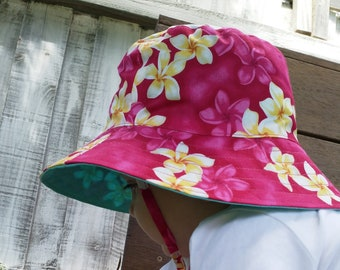 Tropical baby bucket hat