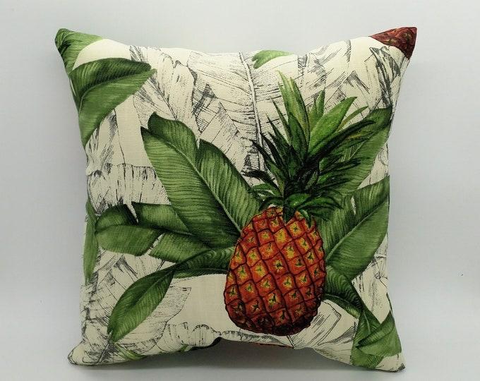 Small tropical cushion, tropical pillow, pineapple cushion, palm leaf cushion, pineapple pillow