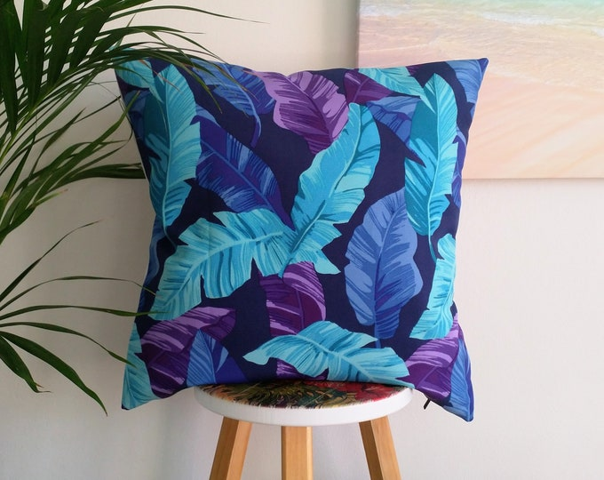 Outdoor cushion cover, Tropical cushion cover, weatherproof cushion cover.