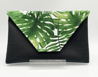 Tropical Monstera Clutch