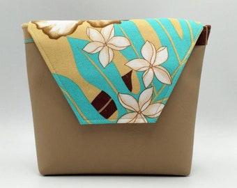 Tropical Handbag, Tahitian fabric bag.