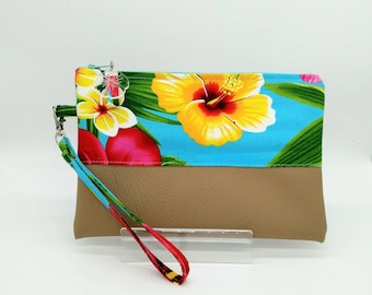 Tropical clutch, Tropical bag, Tropical pouch.