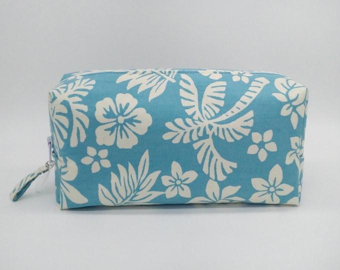 Tropical cosmetic bag, Tropical makeup bag, hawaiian makeup bag, tropical travel bag, hawaiian cosmetic bag, tropical travel bag