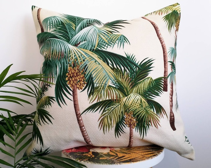 Hawaiian Palm tree cushion cover
