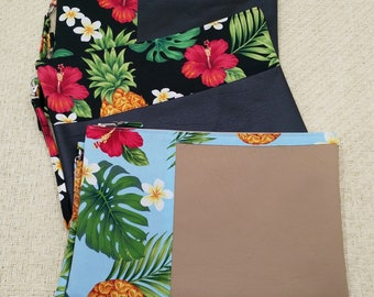 Large tropical clutch and coin purse.
