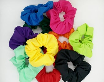 Plain coloured scrunchies
