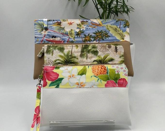 Tropical pouch, Tropical pencil case, Tropical bag, Tropical zip pouch, Tropical clutch/wristles, Tropical purse