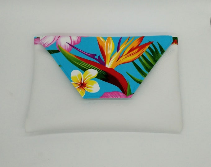Tropical clutch, Tropical purse, Tropical bag, Hibiscus clutch, Hawaiian purse, Travel bag, Evening bag, clutch, Travel, Tahiti purse