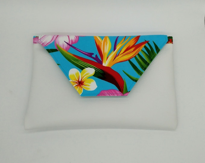 Tropical clutch, Tropical purse, Tropical bag, Tropical pouch.