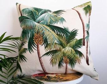Hawaiian Palm tree cushion cover