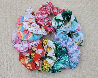 Tropical Scrunchies
