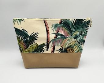 Palm tree cosmetic bag