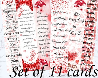 Bible Verse Valentine Card Christian Valentines Etsy