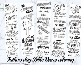 Christian Fathers Day Coloring Pages Bible Bookmarks Journaling Templates Scripture Color Your Own