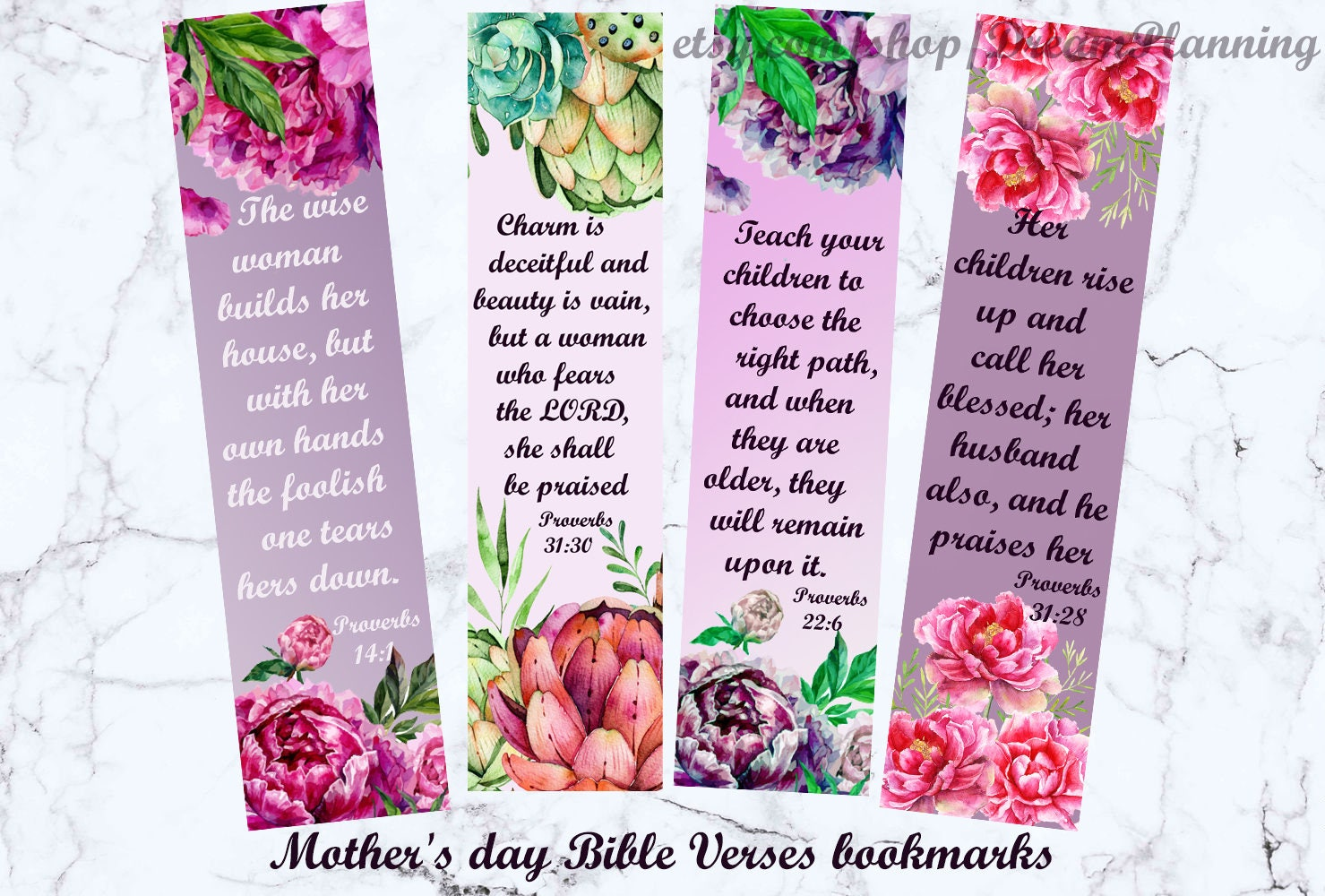 mother's day bible verses bookmarks christian mother day | etsy